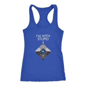 Destiny Ghost I'm With Stupid Women's Racerback Tank Top