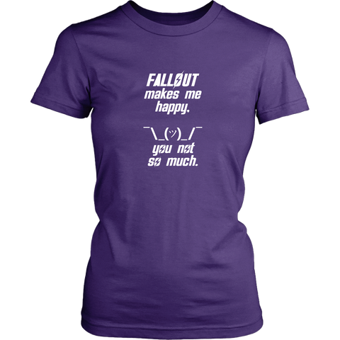 Fallout Makes Me Happy Women's T-Shirt