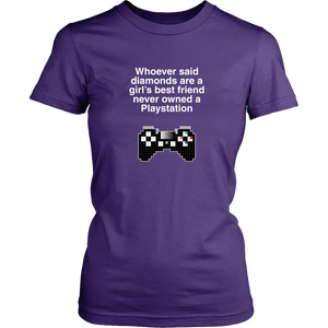 Playstation is a Girl's Best Friend Women's T-Shirt
