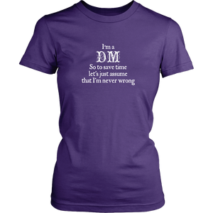 Dungeons and Dragons DM Snob Women's T-Shirt