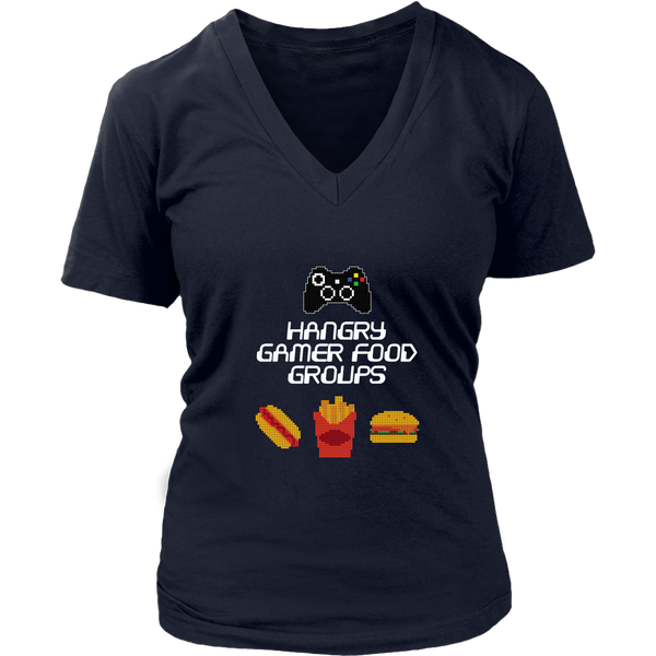 Gaming Food Groups (Xbox Edition) Women's V-Neck T-Shirt