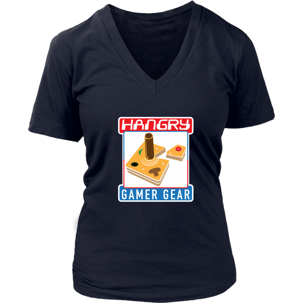 Hangry Gamer Gear Original Women's V-Neck T-Shirt