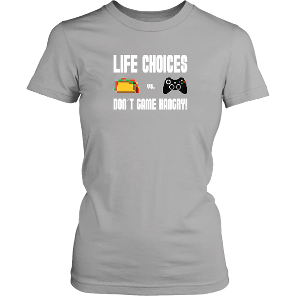 Life Choices - Food Vs Gaming (Xbox Edition) Women's T-Shirt