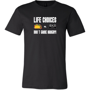 Life Choices - Food Vs Gaming (Playstation Edition) Men's T-Shirt