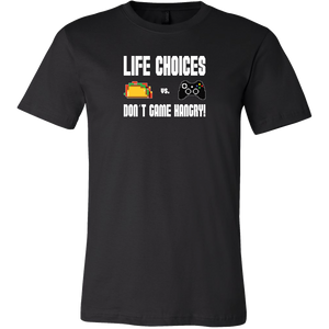 Life Choices - Food Vs Gaming (Xbox Edition) Men's T-Shirt