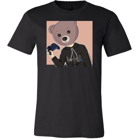 Bearclaws Bear with Controller Men's T-Shirt