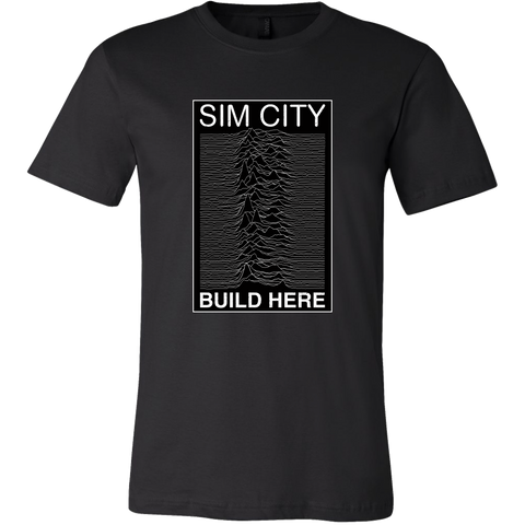 Joy Division Realm in Sim City Men's T-Shirt