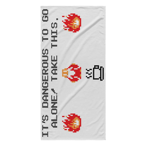 It's Dangerous To Go Without Coffee Beach Towel
