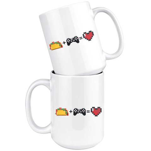 Food + Gaming = Love (Playstation Edition) Mug
