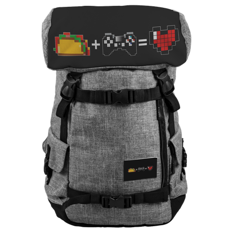 Food + Playstation = Love Water and Snow Resistant Penryn Backpack