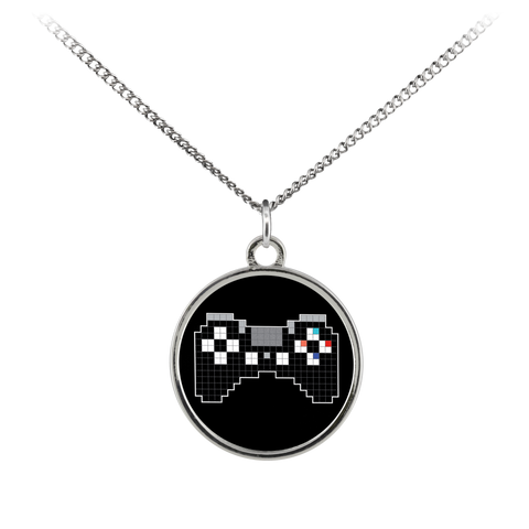 Pixel Art Playstation Gaming Fan Standard Coin Necklace