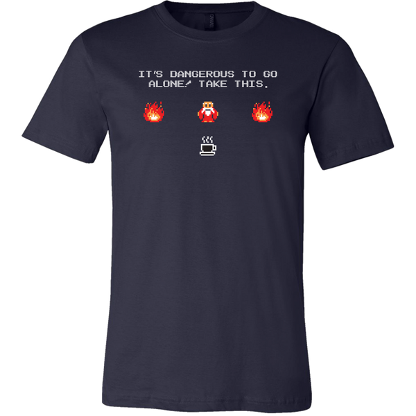 It's Dangerous To Go Without Coffee Men's T-Shirt