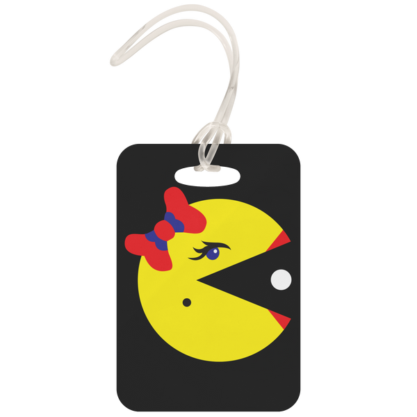 Classic Gaming Mrs. Pacman Metal Luggage Tag