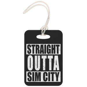 Straight Outta SimCity Metal Luggage Tag