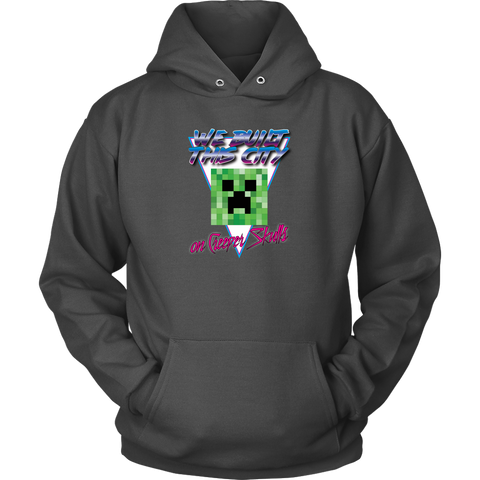 Minecraft We Built this City on Creeper Skulls Retro Hoodie