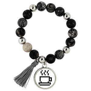 Coffee Lovers Pixel Art Lyric Bracelet