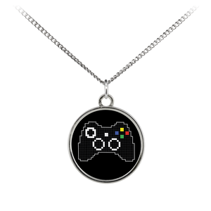 Pixel Art Xbox Gaming Fan Standard Coin Necklace