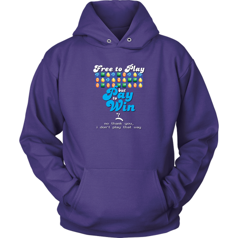 Down With Pay to Win Men's Hoodie (Unisex)