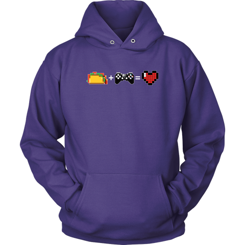 Food + Gaming = Love (Playstation Edition) Hoodie
