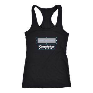 """Insert Topic Here"" Simulator Women's Racerback Tank Top"