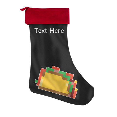 Pixelated Taco Personalized Christmas Stocking