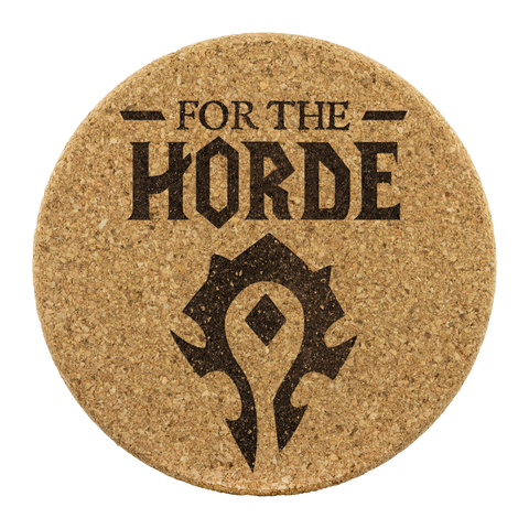 "World of Warcraft ""For The Horde"" Cork Coaster 4pc Set"