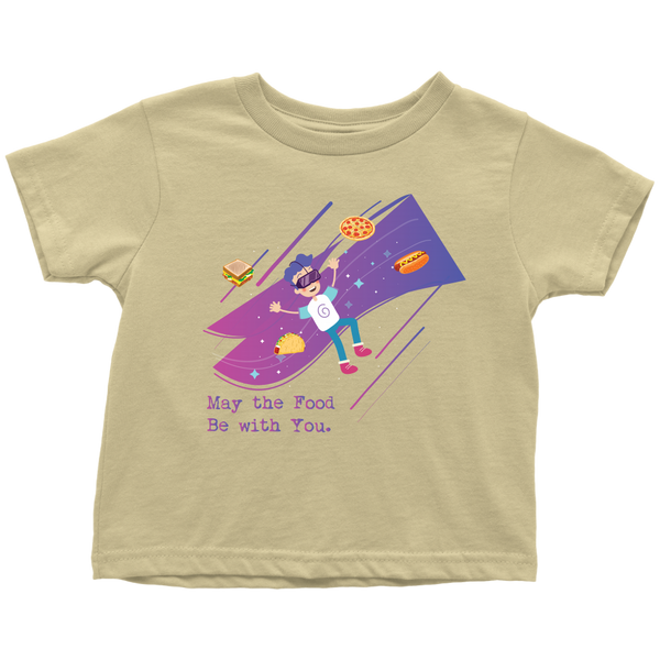 May The Food Be With You Geek Toddler T-Shirt