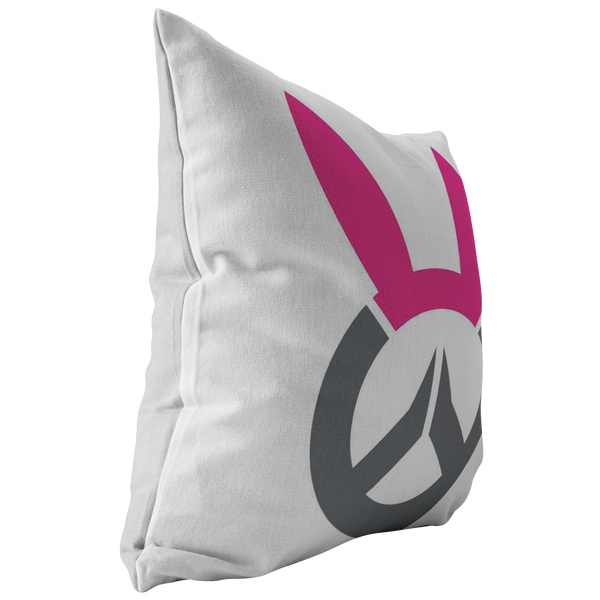 Overwatch D.Va Bunny Logo Pillow