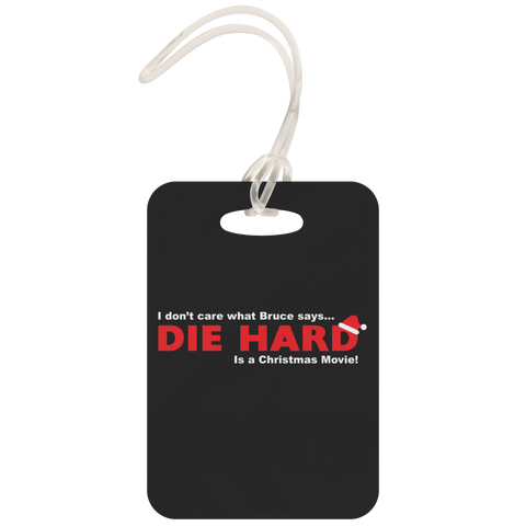 Die Hard is a Christmas Movie Metal Luggage Tag
