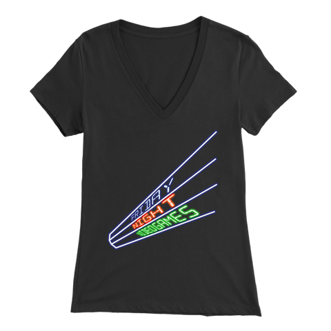 Friday Night Videogames Women's V-Neck T-Shirt
