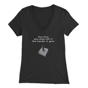 Play Harder Joystick Women's V-Neck T-Shirt