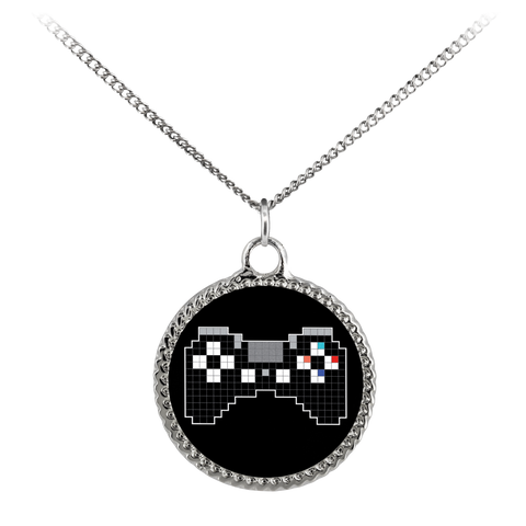 Pixel Art Playstation Gaming Fan Deco Coin Necklace