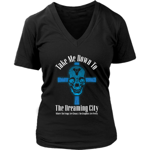 Destiny Dreaming City 80's Style Women's V-Neck