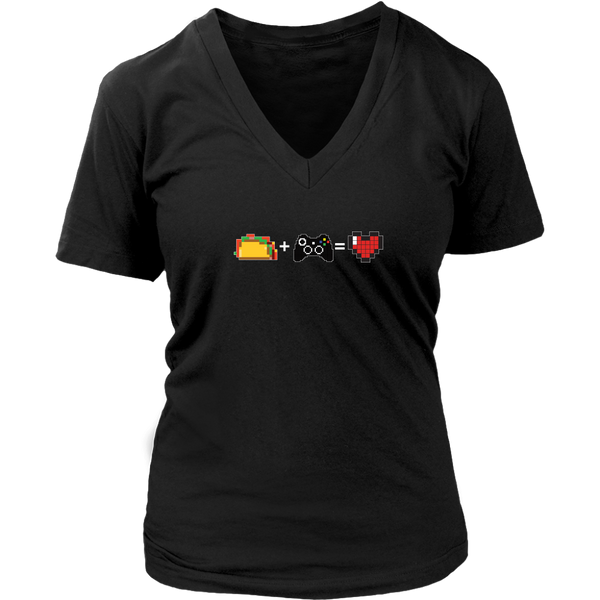 Food + Gaming = Love (Xbox Edition) Women's V-Neck T-Shirt