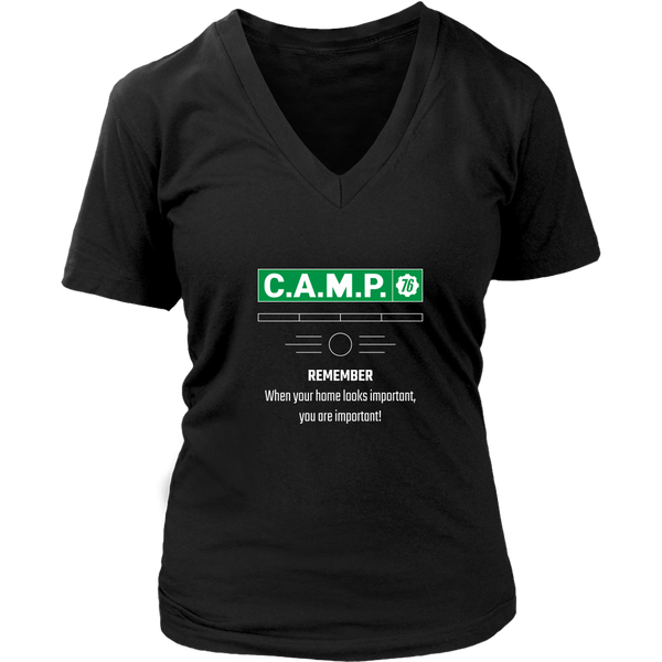 Fallout 76 C.A.M.P. Proud Home Creator Women's V-Neck T-Shirt