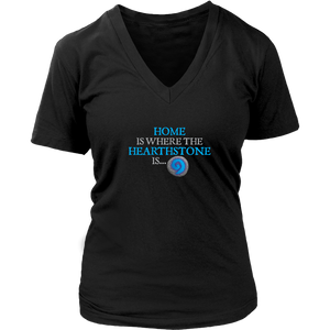 Home is Where the Hearthstone is (Circle Shaped) Women's V-Neck T-Shirt