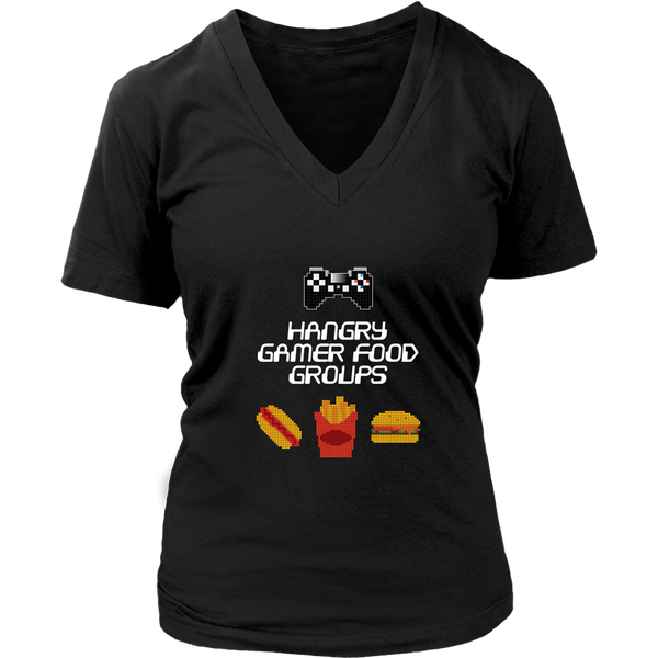 Gaming Food Groups (Playstation Edition) Women's V-Neck T-Shirt