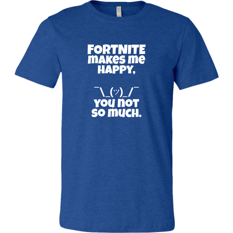 Fortnite Makes Me Happy Men's T-Shirt