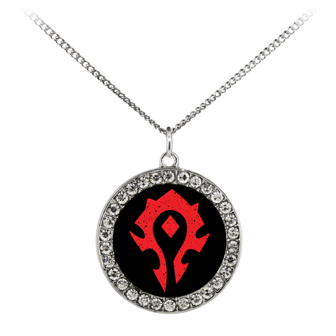 "World of Warcraft ""For the Horde"" Stone Coin Necklace"