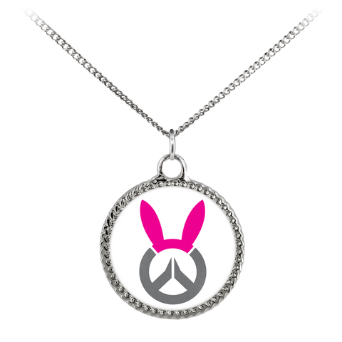Overwatch D.Va Bunny Logo Deco Coin Necklace
