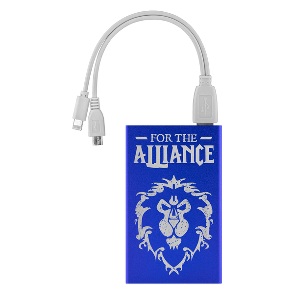 "World of Warcraft ""For The Alliance"" 4000mAh Power Bank"
