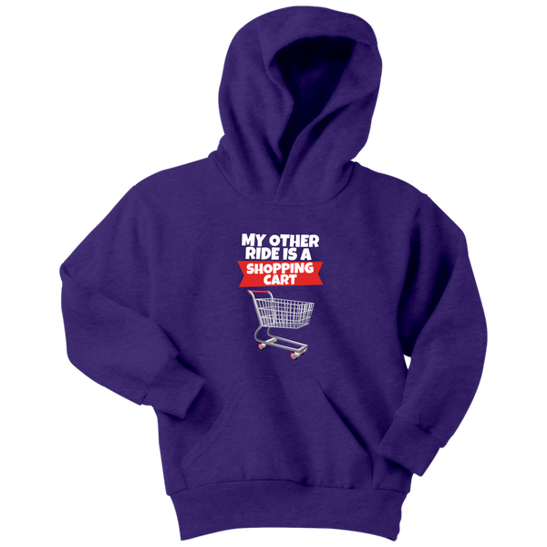 Fortnite Shopping Cart Ride Youth Hoodie
