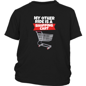 Fortnite Shopping Cart Ride Youth T-Shirt