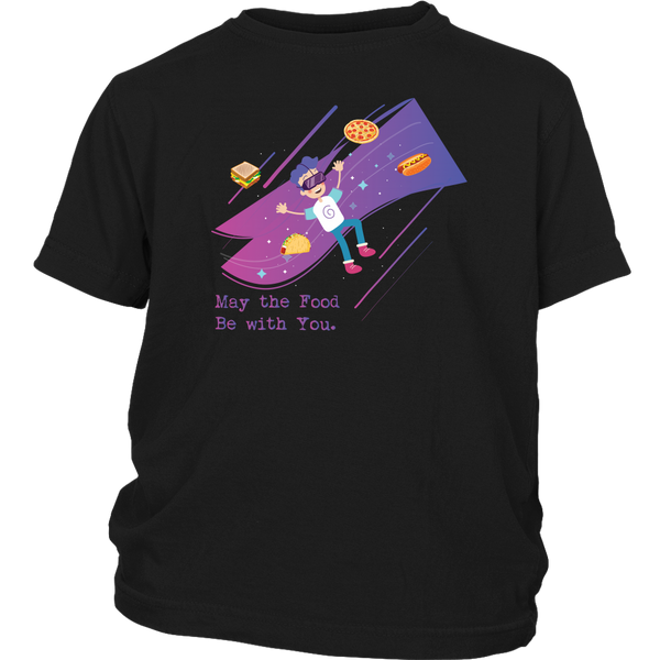 May The Food Be With You Geek Youth T-Shirt