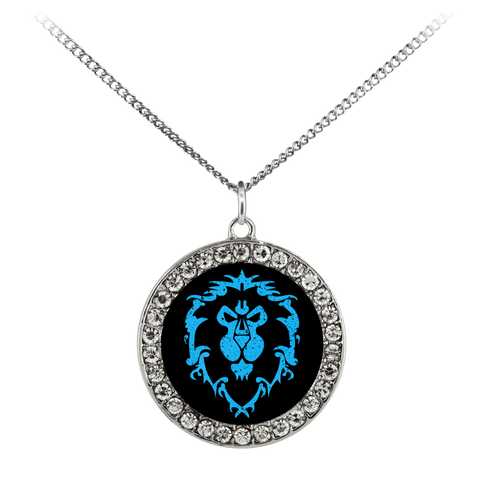 "World of Warcraft ""For the Alliance"" Stone Coin Necklace"