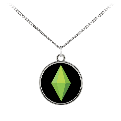 Sim Game Diamond Standard Coin Necklace