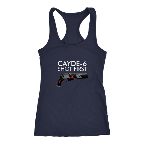 Destiny Cayde-6 Shot First Women's Racerback Tank Top