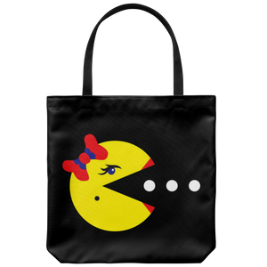 Classic Gaming Mrs. Pacman Tote Bag