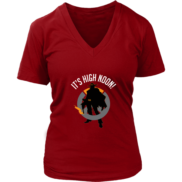 Overwatch McCree It's High Noon Women's V-Neck T-Shirt