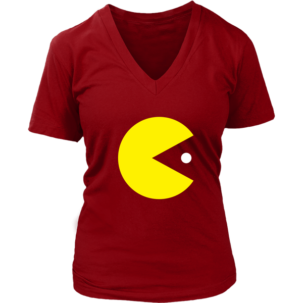 Classic Gaming Pacman Women's V-Neck T-Shirt